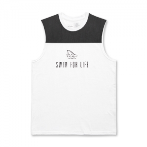 SWIM FOR LIFE MS (white)