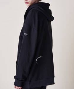 ESSENTIAL OVERSIZE HOOD ZIP (BLACK)