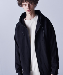 SIDE VENT REGLAN HOOD ZIP (BLACK)