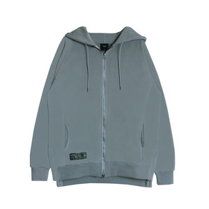 SIDE VENT REGLAN HOOD ZIP (GREY)