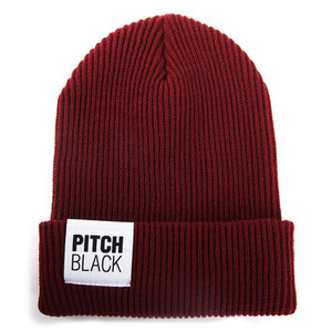 BIG LABEL GOLGI BEANIE (wine)