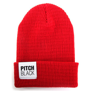 BIG LABEL GOLGI BEANIE (red)