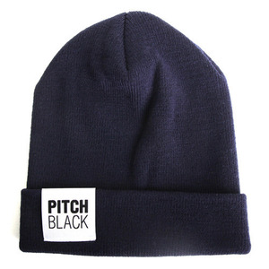 BIG LABEL BEANIE (navy)