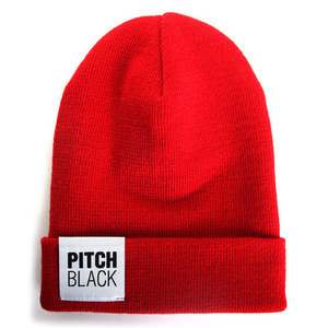 BIG LABEL BEANIE (red)