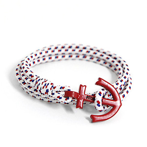 Anchor Bracelet And Necklace (BL04-RD2)